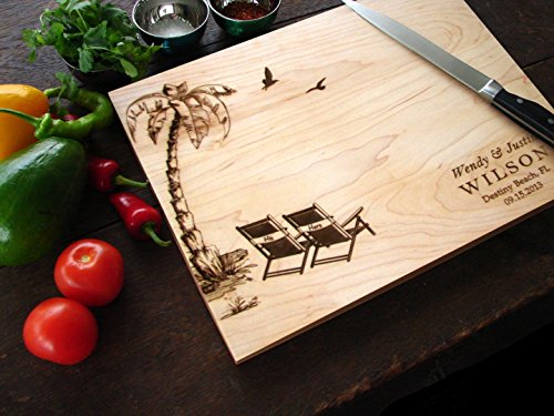 Personalized Beach Wedding Cutting Board