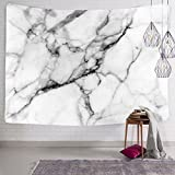 Koongso Black and White Marble Tapestry for Bedroom Living Room Dorm Hippie Handicrafts Artwork Beach Cover Up 60' W x 80' L