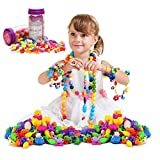 A-PIE Pop Beads -DIY Creative Jewelry for Girl Toy Creative Building Blocks Kids Intelligence Education (110PCS)