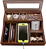 Best Valets For Watch Jewelries - HOUNDSBAY Navigator Big Dresser Valet Tray for Men Review