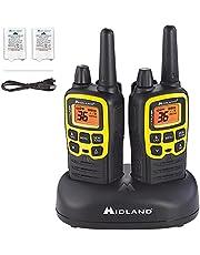 Midland - X-TALKER T61VP3, 36 Channel FRS Two-Way Radio - Up to 32 Mile Range Walkie Talkie, 121 Privacy Codes, & NOAA Weather Scan + Alert (Pair Pack) (Black/Yellow)