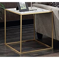 Convenience Concepts Gold Coast Faux Marble End Table