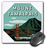BLN Vintage Travel Posters and Luggage Tags - Mount Tamalpais Scenic Bridge and Mountains Luggage Label - MousePad (mp_180220_1)