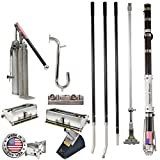 Drywall Master Professional Full Automatic Taping and Finishing Set - 7'' & 10'' Boxes, Taper, Pump, Corner Tools, Handles