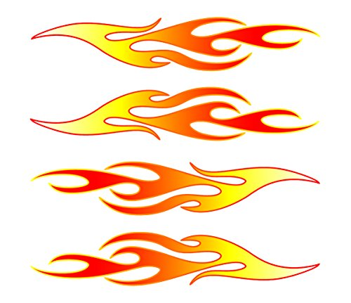 Amazon com flames vinyl stick onz decal automotive