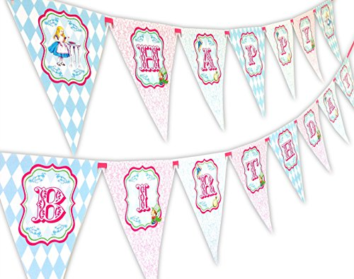 Alice Classic Happy Birthday Banner Pennant