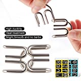Coogam Metal Wire Puzzle Set of 16 with Pouch,Brain