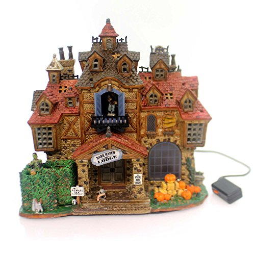 Lemax Spooky Town Dark Haven Lodge with Adaptor # 75499