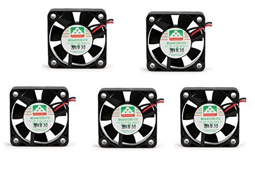 5 pcs package 40mm x 10mm fan ball bearing for 12V 3D