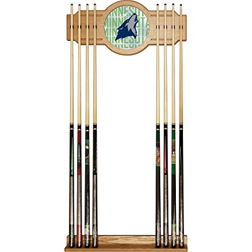 Trademark Gameroom NBA6000-MT3 NBA Cue Rack with Mirror - City - Minnesota Timberwolves by Trademark Global