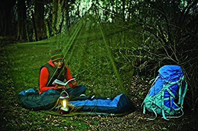 Camco Outdoor Campsite Mosquito Net Protection with Storage Bag- Fine Mesh Structure Keeps Bugs Out, Green Camo Color Blends with Environment - (51366)