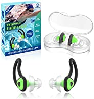2 Pairs Swimmer Ear Plugs, Hearprotek Upgraded Custom-fit Water Protection Adult Swimming earplugs for Swimmer
