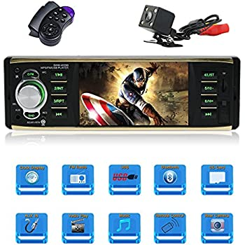 amazon com 4 1 inch car stereo mp5 player single din car stereo4 1 inch car stereo mp5 player single din car stereo with bluetooth car radio audio support
