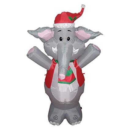 bzb goods lighted christmas blow up cute elephant yard decoration 4