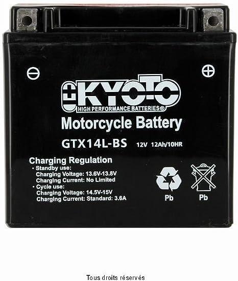 YTX14L-BS BATTERIE KYOTO HARLEY DAVIDSON XL 1200 C SPORTSTER CUSTOM 2004-2013