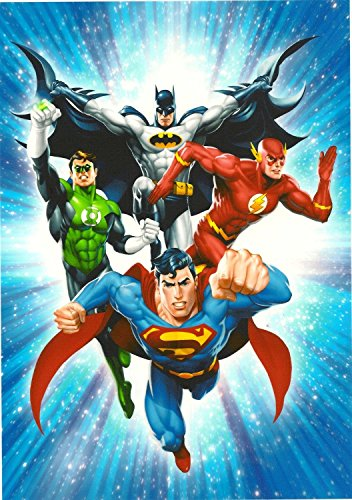 Justice League Edible Frosting Image 1/4 sheet Cake Topper -