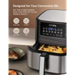 Innsky Air Fryer XL, 5.8 QT, 1700W Electric Stainless Steel Hot Air Fryers Oven for Roasting/Baking/Grilling, LED Touch…