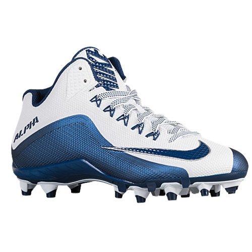 - Nike Mens Alpha Pro 2 TD Promo Football Cleats (13.5 D(M) US, White/Navy)