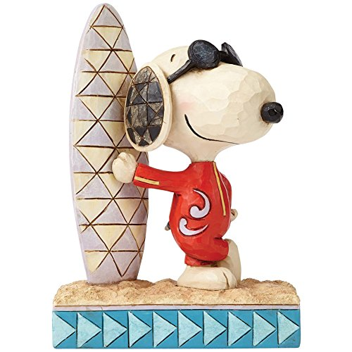 Jim Shore PEANUTS Collection Joe Cool Snoopy Surf's Up St...