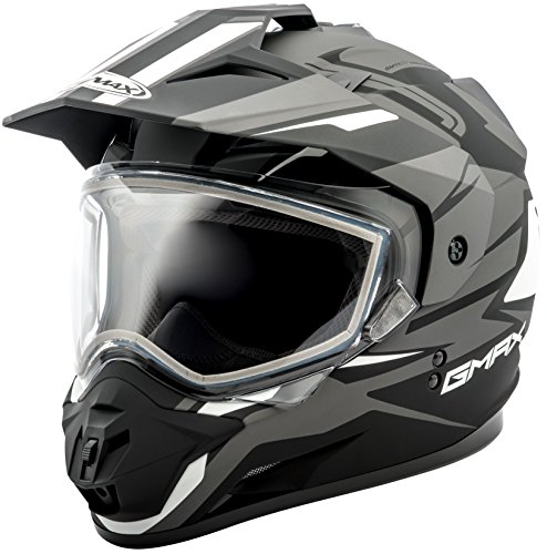 (GMax GM11S Vertical Snow Sport Mens Snowmobile Helmets - Black/Silver - 2X-Large)
