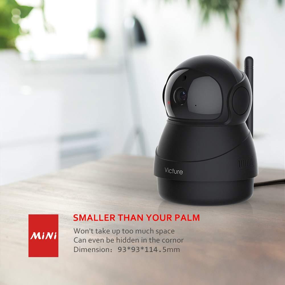 Victure FHD 1080P Telecamera di Sorveglianza WiFi,videocamera IP Interno Wireless con Visione Notturna Audio Bidirezionale Notifiche in tempo reale del sensore di movimento