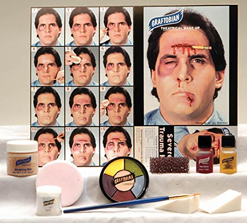 Graftobian Professional Severe Trauma Makeup Kit for Special Effects (Bruise Colors)