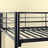 Zinus Easy Assembly Quick Lock Metal Bunk Bed/ Quick To Assemble in Under an Hour, Twin over Full