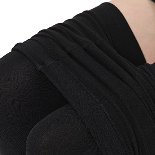 Aphro Women's Opaque Warm Tights Fleece Lining Pantyhose, Large - Black by Aphro (Image #5)