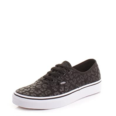 797bfeaf0bf Womens Vans Authentic Glitter Cheetah Black Shoes SIZE 5  Amazon.co.uk   Shoes   Bags