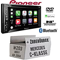 Mercedes C-Klasse W203 MoPf - Autoradio Radio Pioneer AVH-Z3100DAB - 2-Din Bluetooth | DAB+ | MP3 | USB | Android | Apple CarPlay Einbauzubehör - Einbauset