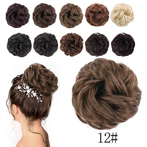 AISI BEAUTY Messy Hair Bun Extensions Chignons Hair Hair Scrunchie Scrunchy Updo Hairpiece (12#)