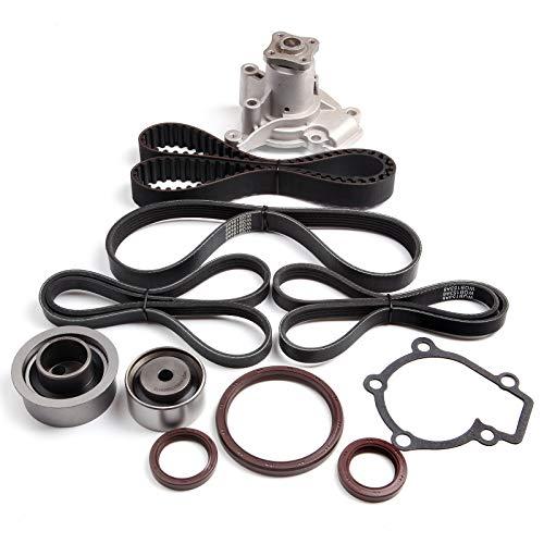 2l Kit Timing Belt (ECCPP Timing Belt Water Pump Kit Fit for2002-2008 Hyundai Elantra Tiburon 2L DOHC L4 16V G4GF G4GC)