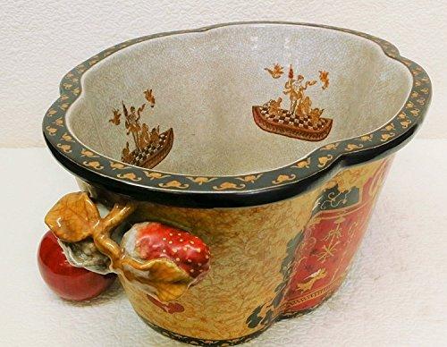 BlueWhiteVases Golden Goddess Porcelain Planter 17