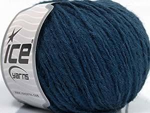 Lote de 8madejas de hilos Lima alpaca de (30% alpaca, 30% lana de merino lana), color azul marino
