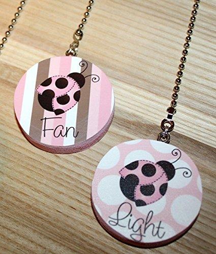 FAN PULLS Pink and Brown Mod Ladybug FP0004 (Mod Ladybug)