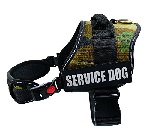 Fairwin Service Vest Dog Harness - Adjustable Nylon Dog Vest with Reflective Patches for Service Dogs Large Medium Small In Training by Fairwin