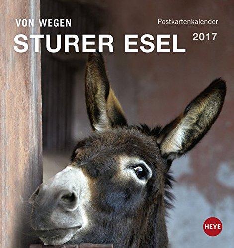Esel Postkartenkalender - Kalender 2017