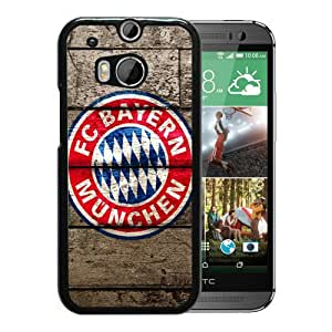 Popular And Unique Custom Designed Case For HTC ONE M8 With FC Bayern Munich Logo Black Phone Case