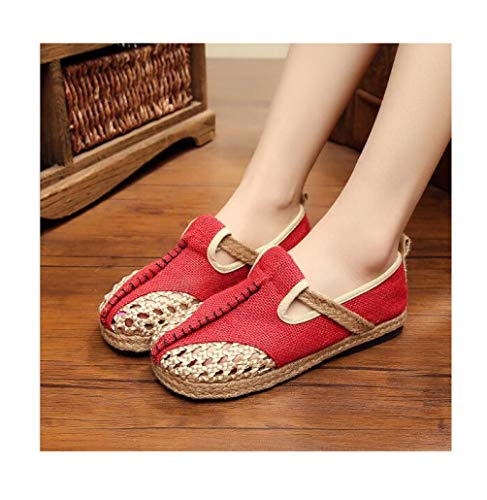 Mageed Anna 2019 New Summer Women Beach Shoes Fashion Flax Openwork Slippers Comfortable Breathable Herringbone Slippers