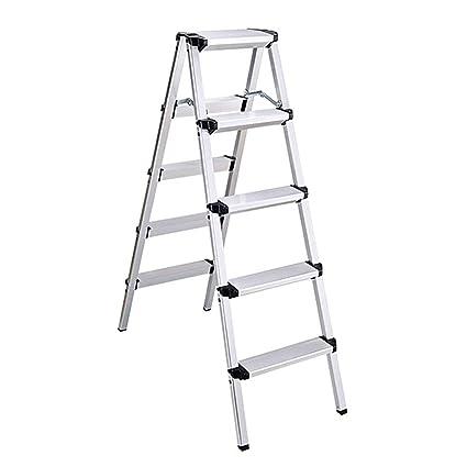 Ladder Stool Taburete de Aluminio de 3 - 5 escalones para Adultos y niños, Plegable, portátil, para Interiores, Cocina, rodamiento de 150 kg: Amazon.es: Hogar