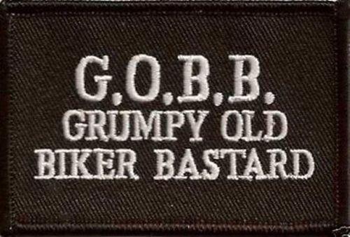 GRUMPY OLD BIKER BASTARD Embroidered Motorcycle FUNNY Biker Vest Patch PAT-0753 heygidday