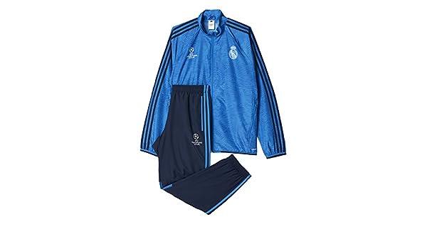 adidas Real Madrid UCL Präsentationsanzug-Blau Chándal, Hombre ...