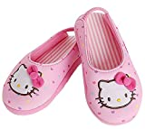 Hello Kitty Girls Slippers Pink Ribbon Heart Dots Indoor Shoes (Parallel Import/Generic Product) (9.5 M US Toddler)