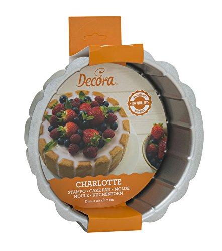 Acciaio DECORA 0070020 Stampo Charlotte Top Quality Antiaderente Grigio