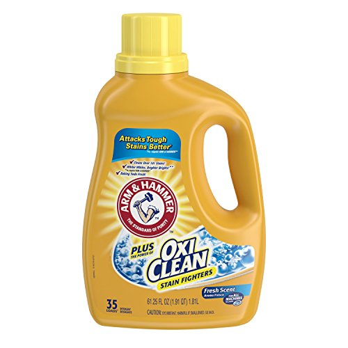 Arm & Hammer Plus Oxiclean Liquid Laundry Detergent, Fresh Scent, 61.25 Ounce, 3 count