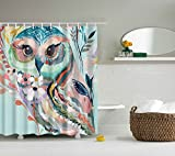 Owl Shower Curtain Goldleaf Home Cute owl Digital printing shower curtain Waterproof Standard Shower Curtain72