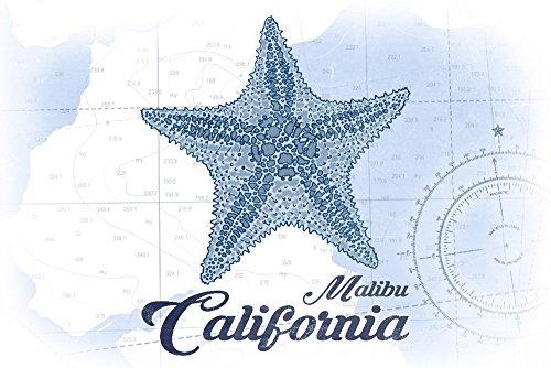 Carta nbsp;– Print nbsp;stella nbsp;– nbsp;coastal 24 X Malibu nbsp;blu 16 Multi Giclee Marina California Icon nbsp;– RwBHBA