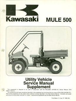 99924 1167 51 1995 1996 kawasaki kaf300b1 b2 mule 500 service manual rh amazon com 1994 Kawasaki Mule Kawasaki Mule 500 Parts