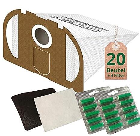 20 Bolsas de aspiradora bolsas blancas y 2 x aroma verde ...