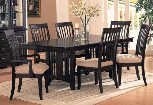 Dining Set Cappuccino Finish Sunset Collection
